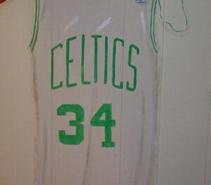 Celtics Jersey Mural