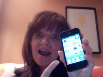 Me with new phone