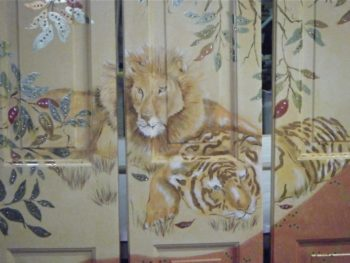 Lion and Tiger Folding Screen