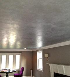 silver glazed ceiling