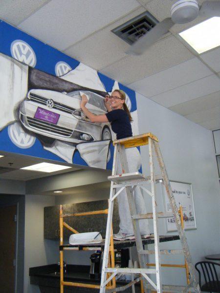 Sarah installing