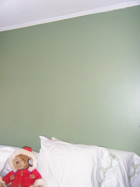 Blank headboard wall