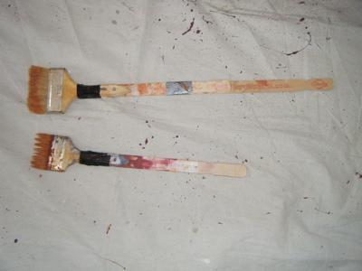 Brushes extended