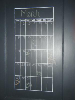 Calendar close up 2