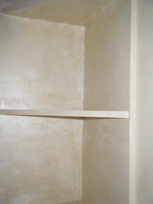 Close up shelves
