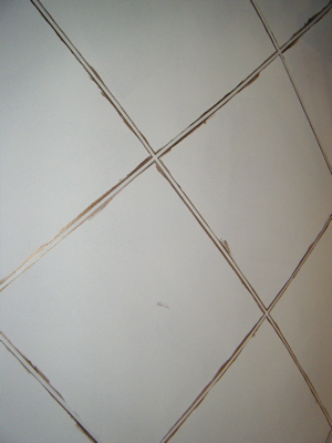 Taped grout