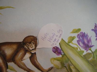 Monkey talking