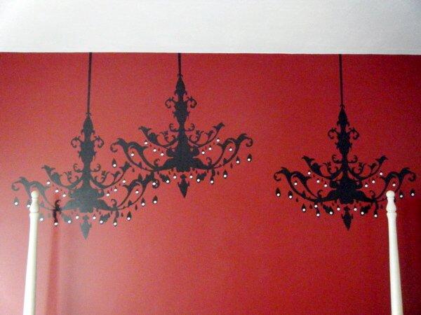 3 chandeliers