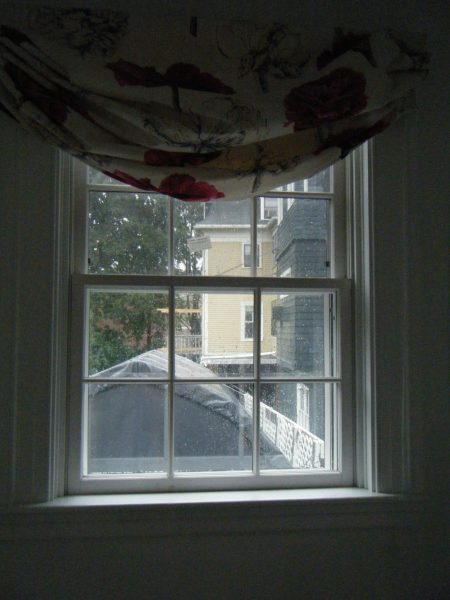 Powder room window