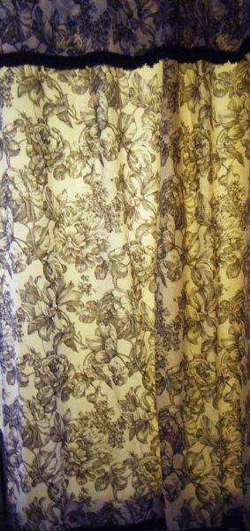 Blk shower curtain