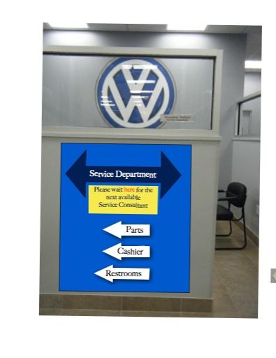 Signage copy