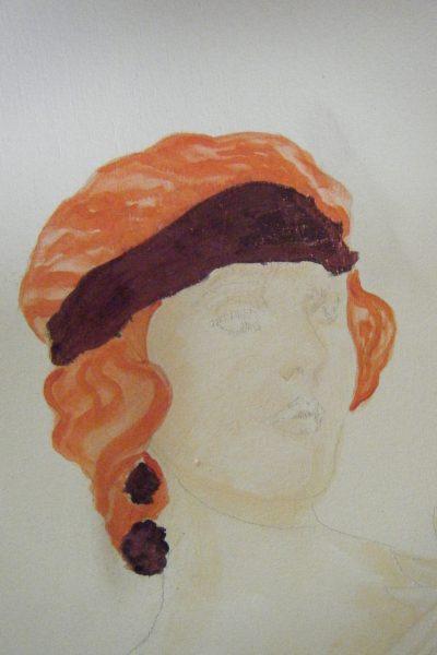 Foiled headband:earrings