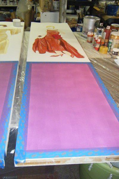 Taping:basing bottom panels