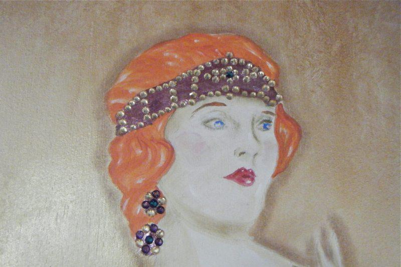 Red head headband:earrings