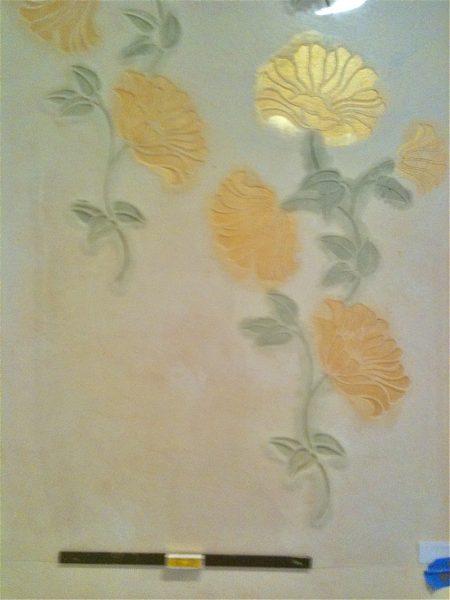 Stencil on wall w:level