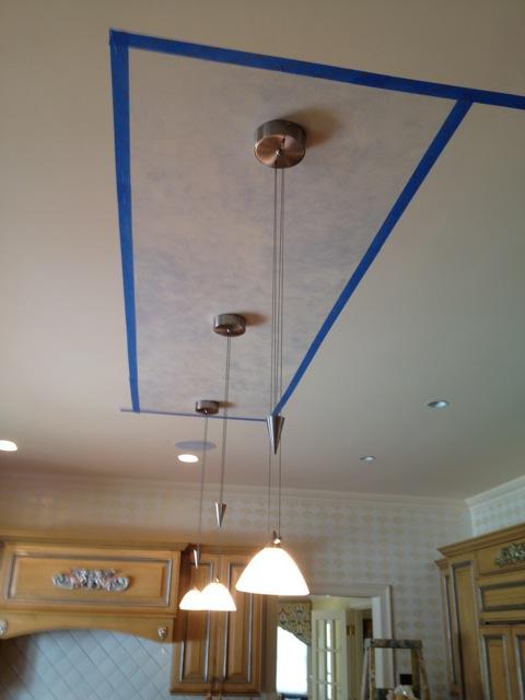 Island ceiling in progress