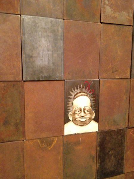 Iron wall close up